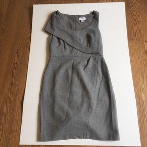 Gray Sleeveless Loft Dress for the Office size 4